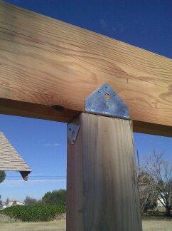 Small post to beam bracket