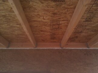 OSB sheeting and Rafter brackets