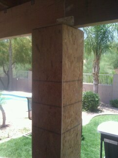 Post ready for stucco